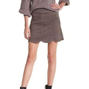 HYFVE Scalloped Hemmed Corduroy Skirt